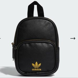 Adidas Faux Leather Mini Backpack